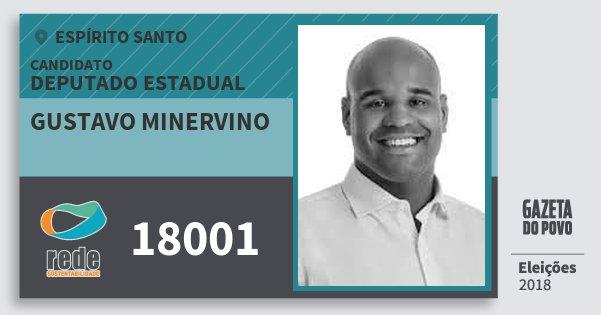 Santinho Gustavo Minervino 18001 (REDE) Deputado Estadual | Espírito Santo | Eleições 2018