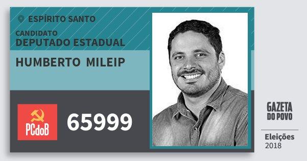 Santinho Humberto  Mileip 65999 (PC do B) Deputado Estadual | Espírito Santo | Eleições 2018