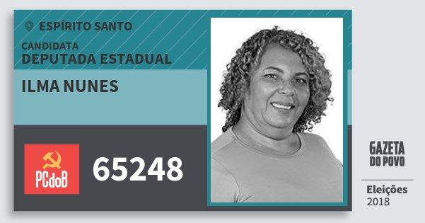 Santinho Ilma Nunes 65248 (PC do B) Deputada Estadual | Espírito Santo | Eleições 2018
