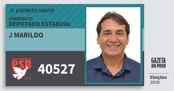 Santinho J Marildo 40527 (PSB) Deputado Estadual | Espírito Santo | Eleições 2018