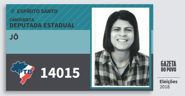 Santinho Jô 14015 (PTB) Deputada Estadual | Espírito Santo | Eleições 2018