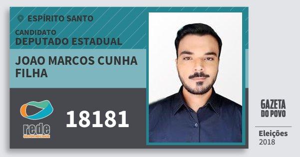 Santinho Joao Marcos Cunha Filha 18181 (REDE) Deputado Estadual | Espírito Santo | Eleições 2018