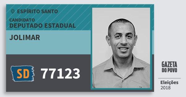 Santinho Jolimar 77123 (SOLIDARIEDADE) Deputado Estadual | Espírito Santo | Eleições 2018