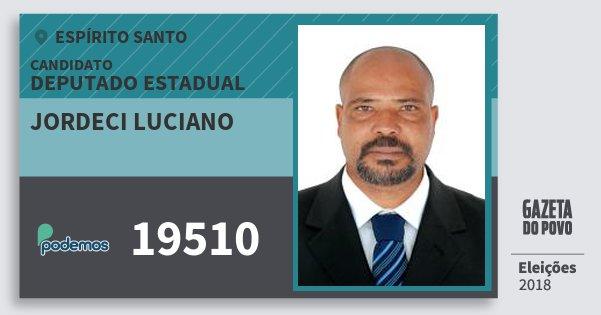 Santinho Jordeci Luciano 19510 (PODE) Deputado Estadual | Espírito Santo | Eleições 2018