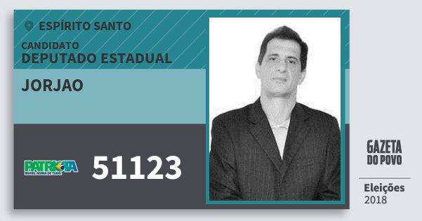 Santinho Jorjao 51123 (PATRI) Deputado Estadual | Espírito Santo | Eleições 2018