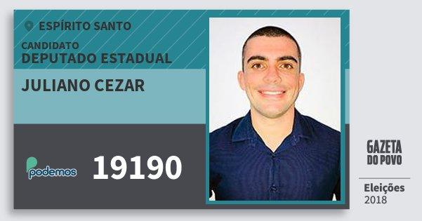 Santinho Juliano Cezar 19190 (PODE) Deputado Estadual | Espírito Santo | Eleições 2018