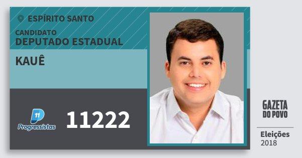 Santinho Kauê 11222 (PP) Deputado Estadual | Espírito Santo | Eleições 2018