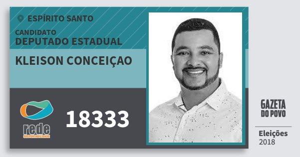 Santinho Kleison Conceiçao 18333 (REDE) Deputado Estadual | Espírito Santo | Eleições 2018