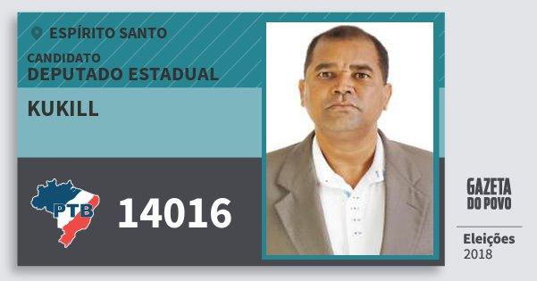 Santinho Kukill 14016 (PTB) Deputado Estadual | Espírito Santo | Eleições 2018