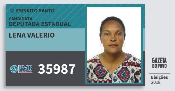 Santinho Lena Valerio 35987 (PMB) Deputada Estadual | Espírito Santo | Eleições 2018