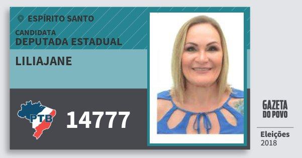 Santinho Liliajane 14777 (PTB) Deputada Estadual | Espírito Santo | Eleições 2018