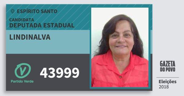 Santinho Lindinalva 43999 (PV) Deputada Estadual | Espírito Santo | Eleições 2018