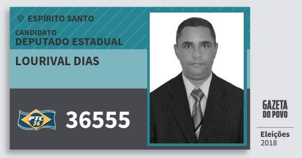 Santinho Lourival Dias 36555 (PTC) Deputado Estadual | Espírito Santo | Eleições 2018