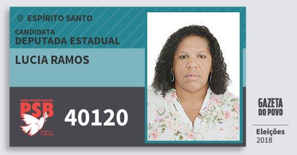Santinho Lucia Ramos 40120 (PSB) Deputada Estadual | Espírito Santo | Eleições 2018