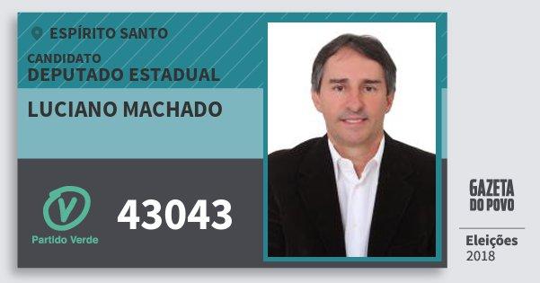 Santinho Luciano Machado 43043 (PV) Deputado Estadual | Espírito Santo | Eleições 2018