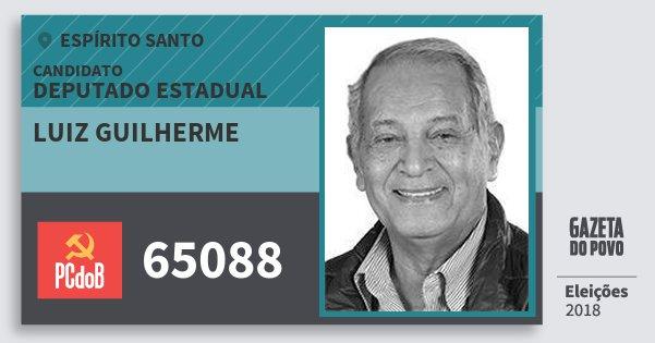 Santinho Luiz Guilherme 65088 (PC do B) Deputado Estadual | Espírito Santo | Eleições 2018