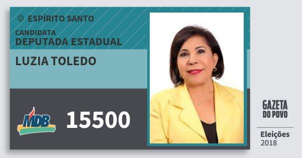 Santinho Luzia Toledo 15500 (MDB) Deputada Estadual | Espírito Santo | Eleições 2018