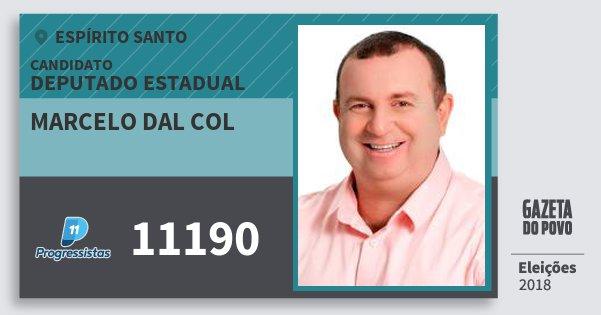 Santinho Marcelo dal Col 11190 (PP) Deputado Estadual | Espírito Santo | Eleições 2018