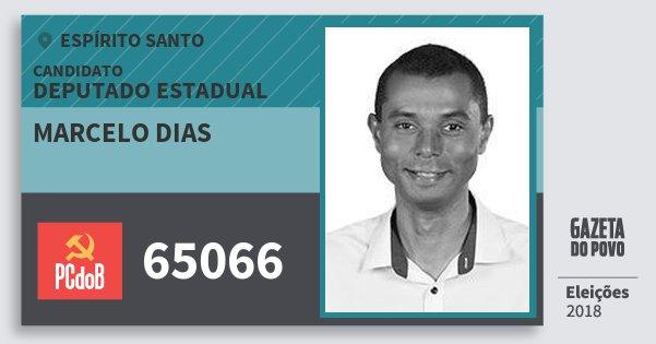 Santinho Marcelo Dias 65066 (PC do B) Deputado Estadual | Espírito Santo | Eleições 2018