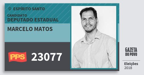 Santinho Marcelo Matos 23077 (PPS) Deputado Estadual | Espírito Santo | Eleições 2018