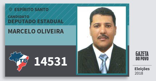 Santinho Marcelo Oliveira 14531 (PTB) Deputado Estadual | Espírito Santo | Eleições 2018