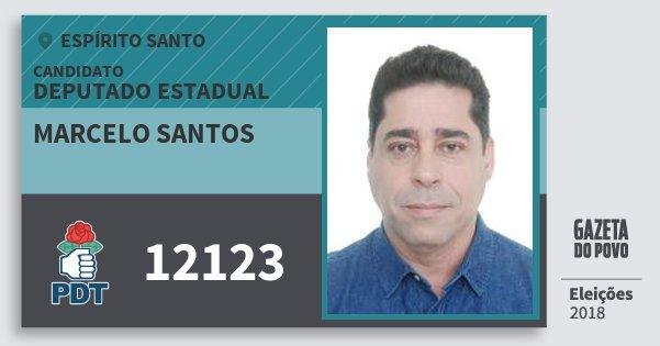 Santinho Marcelo Santos 12123 (PDT) Deputado Estadual | Espírito Santo | Eleições 2018