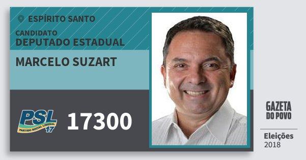 Santinho Marcelo Suzart 17300 (PSL) Deputado Estadual | Espírito Santo | Eleições 2018