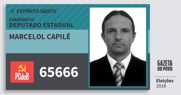 Santinho Marcelol Capilé 65666 (PC do B) Deputado Estadual | Espírito Santo | Eleições 2018