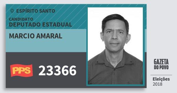 Santinho Marcio Amaral 23366 (PPS) Deputado Estadual | Espírito Santo | Eleições 2018