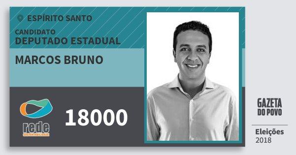 Santinho Marcos Bruno 18000 (REDE) Deputado Estadual | Espírito Santo | Eleições 2018