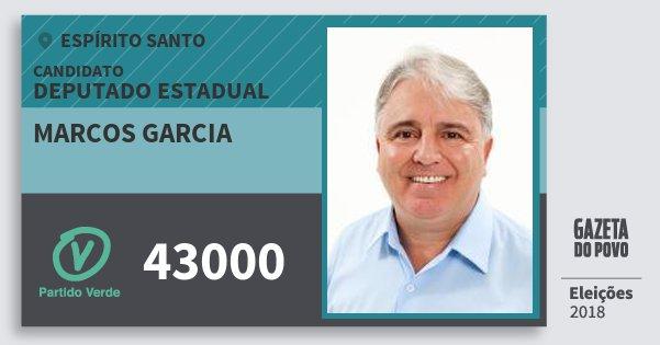Santinho Marcos Garcia 43000 (PV) Deputado Estadual | Espírito Santo | Eleições 2018