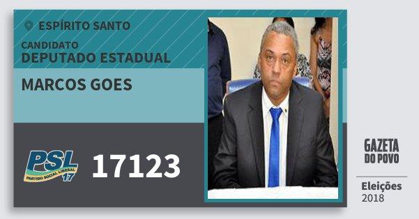 Santinho Marcos Goes 17123 (PSL) Deputado Estadual | Espírito Santo | Eleições 2018