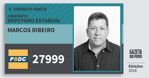 Santinho Marcos Ribeiro 27999 (DC) Deputado Estadual | Espírito Santo | Eleições 2018
