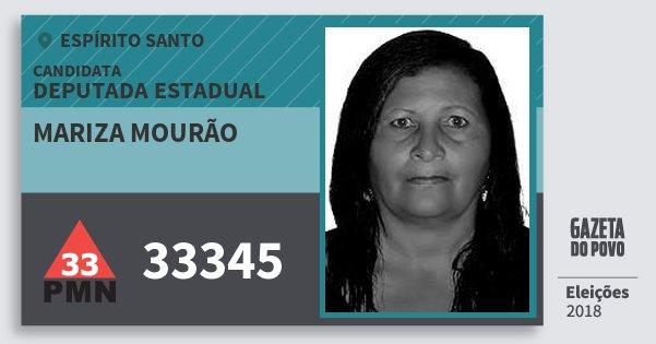 Santinho Mariza Mourão 33345 (PMN) Deputada Estadual   Espírito Santo   Eleições 2018