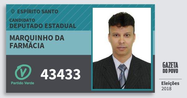 Santinho Marquinho da Farmácia 43433 (PV) Deputado Estadual | Espírito Santo | Eleições 2018