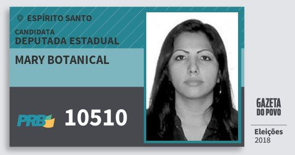 Santinho Mary Botanical 10510 (PRB) Deputada Estadual | Espírito Santo | Eleições 2018