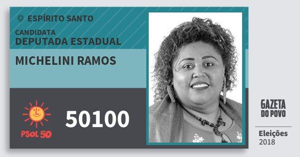 Santinho Michelini Ramos 50100 (PSOL) Deputada Estadual | Espírito Santo | Eleições 2018