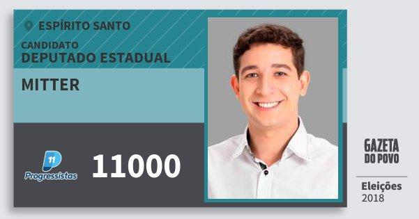 Santinho Mitter 11000 (PP) Deputado Estadual | Espírito Santo | Eleições 2018