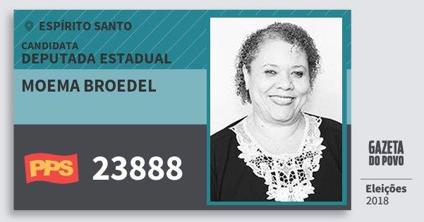 Santinho Moema Broedel 23888 (PPS) Deputada Estadual | Espírito Santo | Eleições 2018