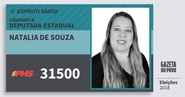 Santinho Natalia de Souza 31500 (PHS) Deputada Estadual | Espírito Santo | Eleições 2018