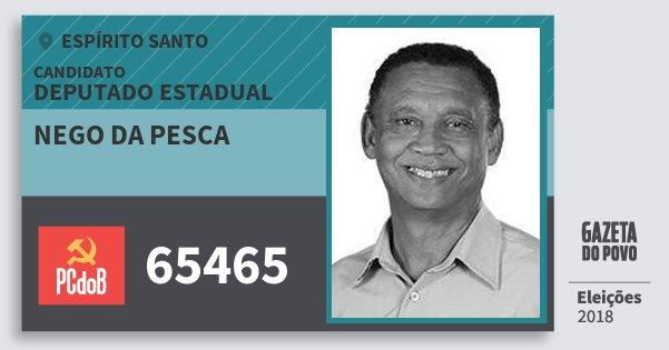Santinho Nego da Pesca 65465 (PC do B) Deputado Estadual | Espírito Santo | Eleições 2018