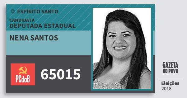 Santinho Nena Santos 65015 (PC do B) Deputada Estadual | Espírito Santo | Eleições 2018