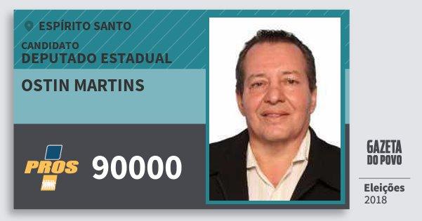 Santinho Ostin Martins 90000 (PROS) Deputado Estadual | Espírito Santo | Eleições 2018