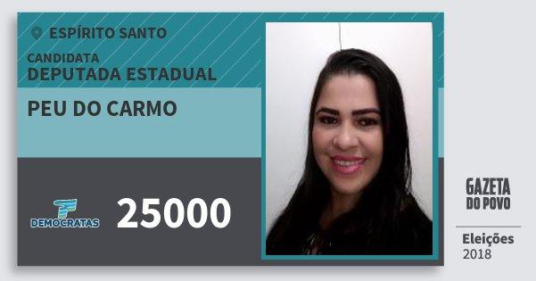 Santinho Peu do Carmo 25000 (DEM) Deputada Estadual | Espírito Santo | Eleições 2018