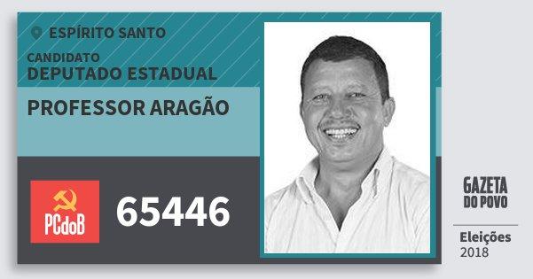 Santinho Professor Aragão 65446 (PC do B) Deputado Estadual | Espírito Santo | Eleições 2018