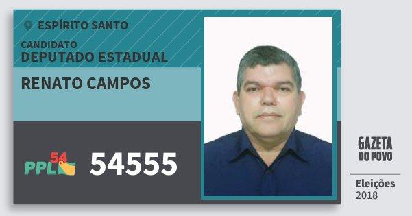 Santinho Renato Campos 54555 (PPL) Deputado Estadual | Espírito Santo | Eleições 2018