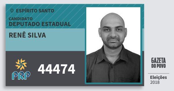Santinho Renê Silva 44474 (PRP) Deputado Estadual | Espírito Santo | Eleições 2018