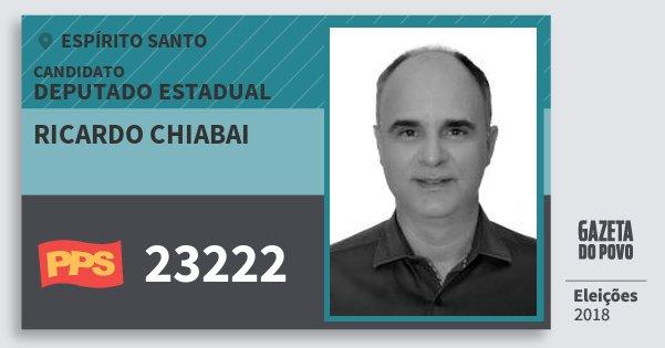 Santinho Ricardo Chiabai 23222 (PPS) Deputado Estadual | Espírito Santo | Eleições 2018