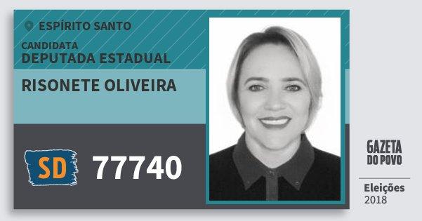 Santinho Risonete Oliveira 77740 (SOLIDARIEDADE) Deputada Estadual | Espírito Santo | Eleições 2018