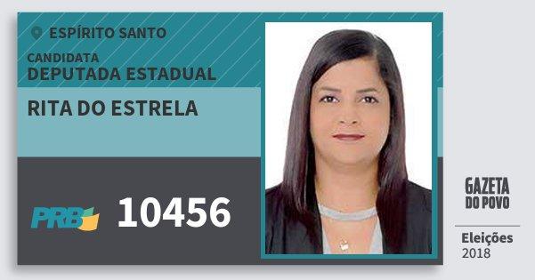 Santinho Rita do Estrela 10456 (PRB) Deputada Estadual | Espírito Santo | Eleições 2018